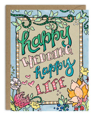 Happy Wedding Happy Life Card
