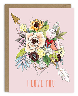 I Love You (Arrow) Card