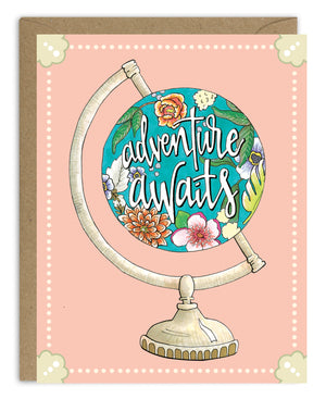 Adventure Awaits Globe Card