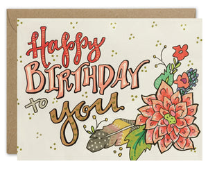 Classic Happy Birthday to You Card