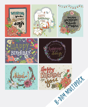Multi-Pack Birthday Cards