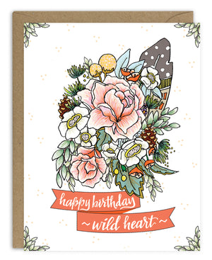 Happy Birthday Wild Heart Card