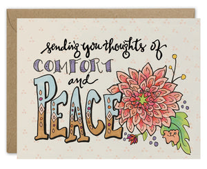 Thoughts of Comfort & Peace Card