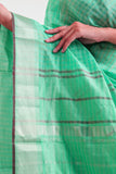 Seagreen Ahilya Line sari with Chatai border