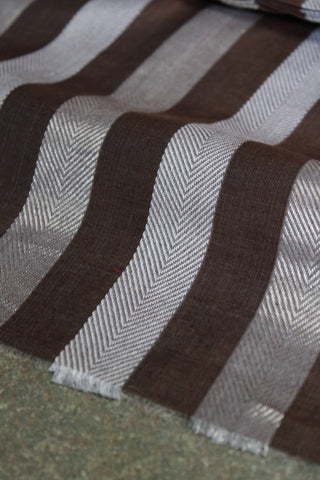 Beige Stripped Pre Cut Fabric