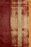 Ahilya - Intricately woven Maroon Tissue sari with Jhala palla & Jamdani buttis