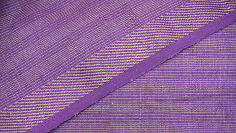 Purple Cotton by Linen Maheshwari Fabric