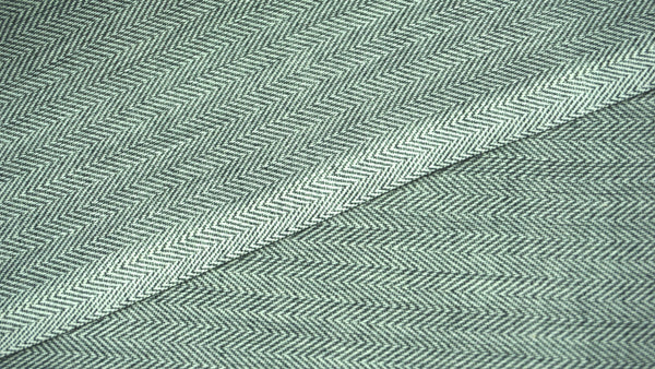 Black and White Cotton Wavy Twill Fabric