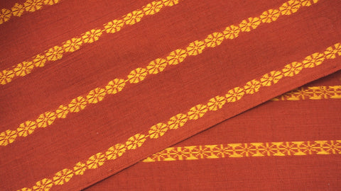 Red Rui Phool Cotton Fabric