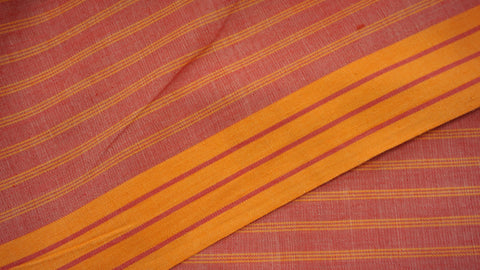 Pale Red Cotton and Spun Silk Fabric