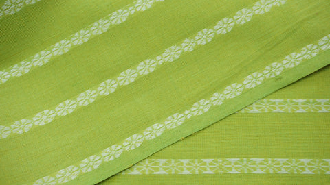 Lime Green Cotton Rui Phool Fabric