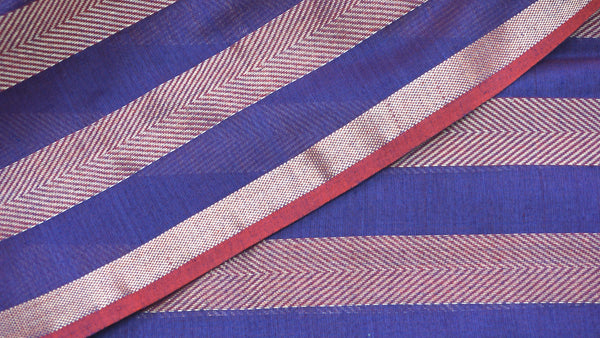 Purple Jugal Bandi Fabric