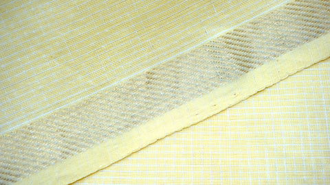 Pale Yellow Cotton and Linen Fabric