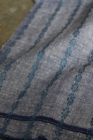 REHWA Fabric in Cotton by Eri Silk with Rui Phool border