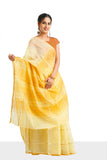 Contemporary Butter Yellow Ahilya sari