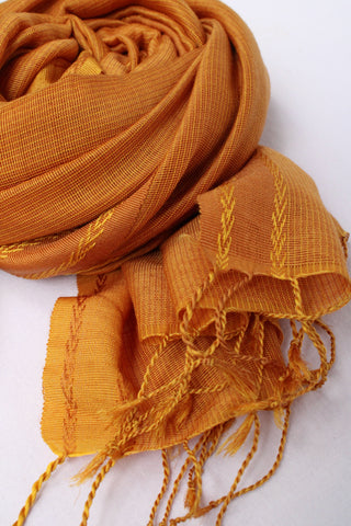 Fire Yellow Rehwa Wool Shawl