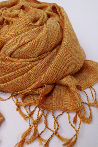 Golden Rehwa Wool Shawl