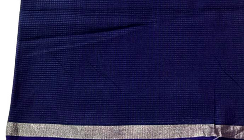 Dark Blue Garbh Reshmi fabric