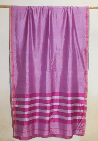 Garbh Reshmi - Traditional Maheshwari sari with Bugdi border