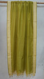 Olive Green Silk by Cotton dupatta