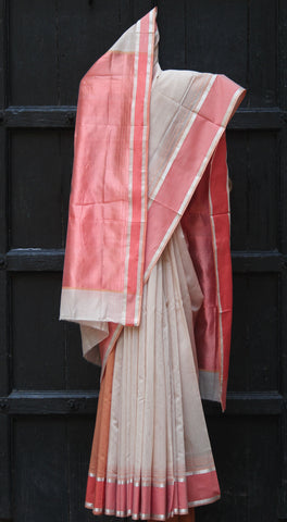 Tussar & Coral Silk by Cotton Maheshwari