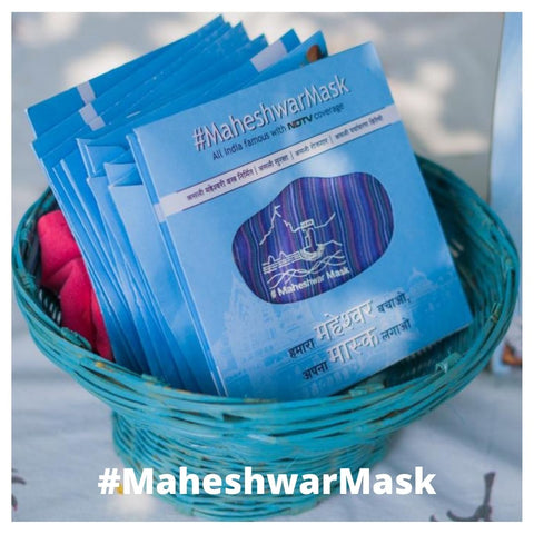 #MaheshwarMask (Medium) - Set of 5