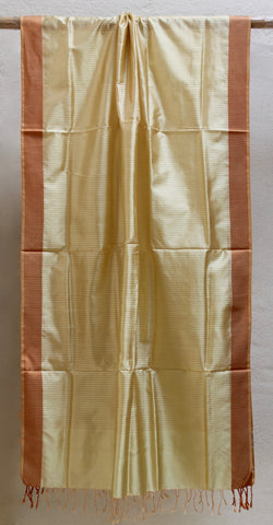 Silk Maheshwari Dupatta in Metallic tone