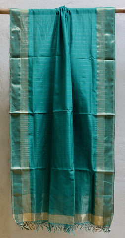 Light Green Festive dupatta with Zari border