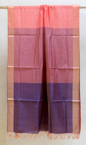 Silk by Cotton Dupatta with Gradation & Colour Blocking