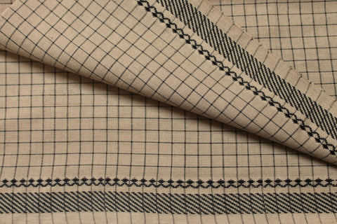 Contemporary Gray Pure Cotton fabric