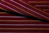 Burgundy Pure Cotton fabric with Laher lines