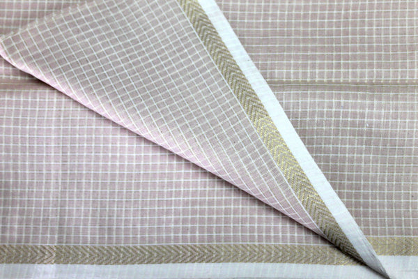Natural Dyed Silk by Cotton Maheshwari fabric
