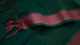 Striped Emerald Maheshwari dupatta