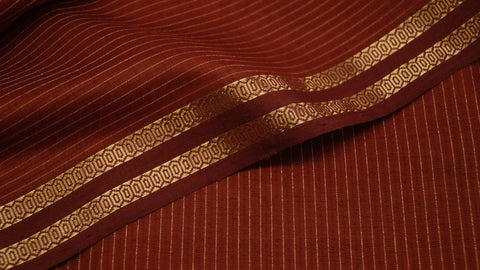 Brick Red Silk by Cotton fabric