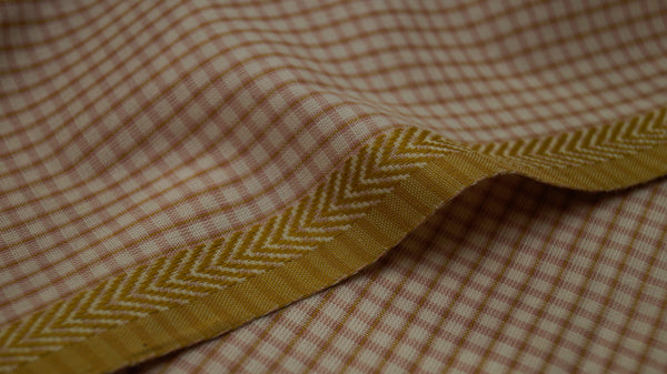 Natural dyed organic cotton fabric