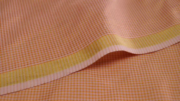 Silk by cotton Maheshwari fabric