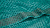 Turquoise Matka Silk scarf with Zari border