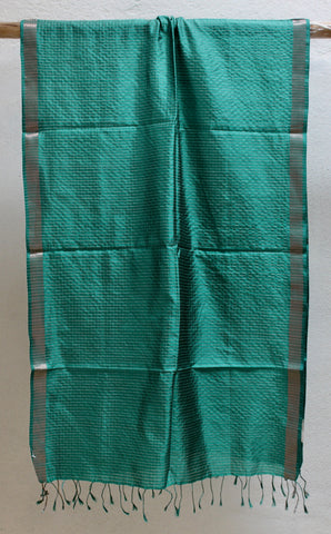 Emerald scarf in Pure Silk