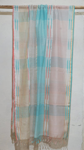 Kora Silk, Cotton and Zari dupatta
