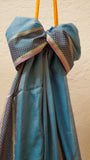 Blue Finely Checkered dupatta