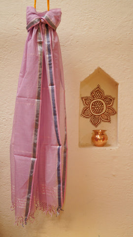Petite Violet dupatta with Zari border
