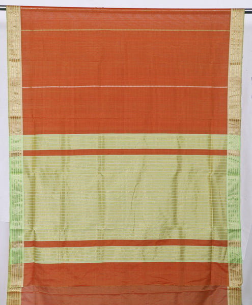 Traditional Rust Orange Maheshwari