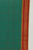 Emerald Green Checkered sari