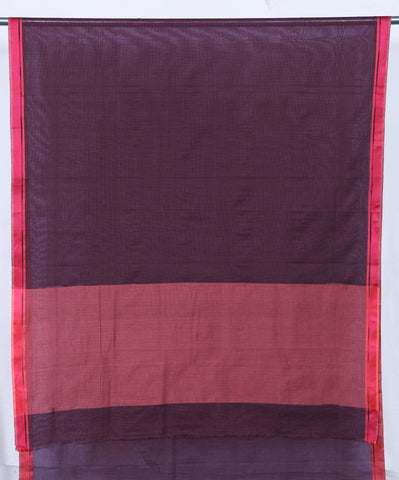 Checkered Pure Cotton sari for Monsoon