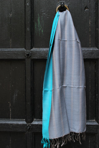 Silver With Turquoise Shawl