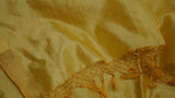 Golden Pure Silk scarf with Zari border