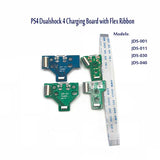 JDS-001 JDS-011 JDS-030 JDS-040 USB Charging Port Socket Board charger board with flex ribbon cable For PS4 controller