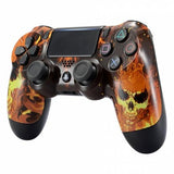 Ghost Rider Inspired Shell Faceplate Housing Cover for PS4 Pro Slim Controller