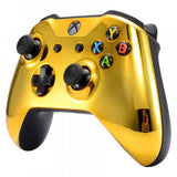 Chrome Gold Edition Front Housing Shell Face-plate for Xbox One S & for Xbox One X Controller