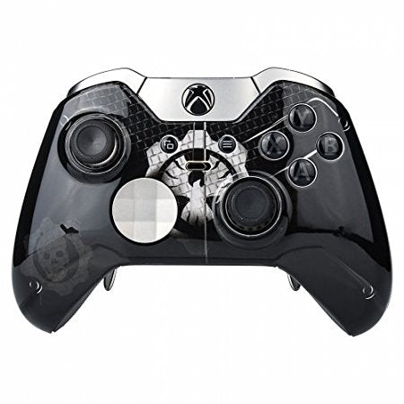Skull Style Front Shell Faceplate Cover Repair Parts with two black rings for Xbox One Elite Controller